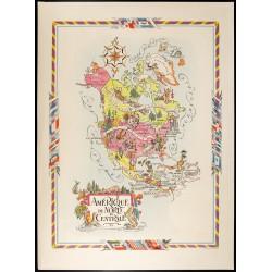 1951 - Carte de l'Amérique...