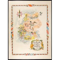 1951 - Carte d'Europe centrale