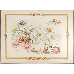 1951 - Carte Australie et...