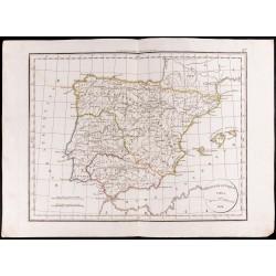 1830 - Carte de l'Espagne...