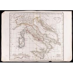 1830 - Carte de l'Italie...