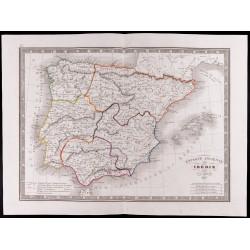 1841 - Carte de l'Espagne...
