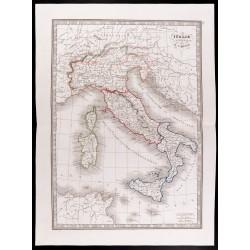 1841 - Carte de l'Italie...