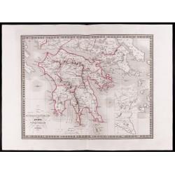 1841 - Carte du Péloponnèse.