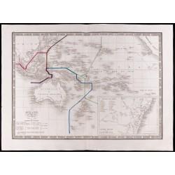 1841 - Carte de l'Océanie...