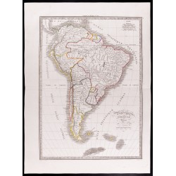 1841 - Carte de l'Amérique...