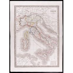 1841 - Carte de l'Italie
