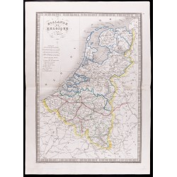 1841 - Carte de Hollande et...
