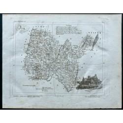 1830 - Carte ancienne de l'Ain