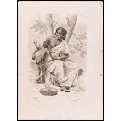 1880 - Enfant fumeur et...