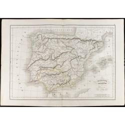 1847 - Carte de l'Espagne...