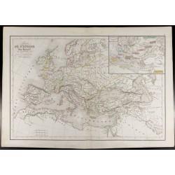 1847 - Carte de l'Europe au...
