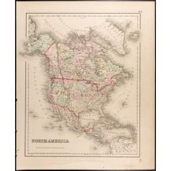 1857 - Carte de l'Amérique...