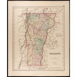 1857 - Vermont - Carte...