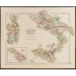 1857 - Carte d'Italie et du...