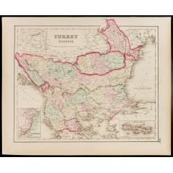 1857 - Carte de la Turquie...