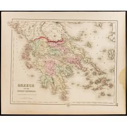 1857 - Carte ancienne de la...