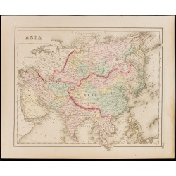 1857 - Asie - Carte ancienne