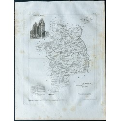 1830 - Carte ancienne du Cher