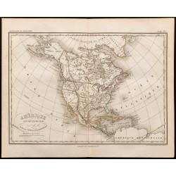 1847 - Carte de l'Amérique...