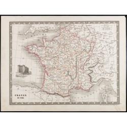 1835 - Carte ancienne de la...