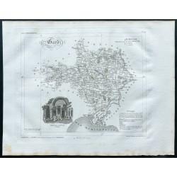 1830 - Carte ancienne du Gard