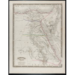 1835 - Carte de l'Égypte...