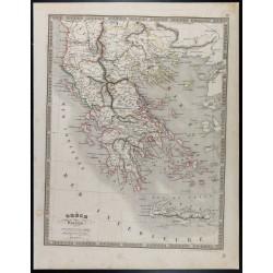 1835 - Carte de la Grèce...