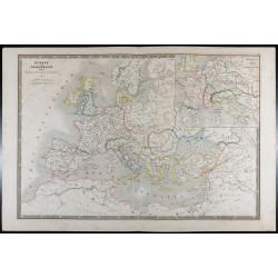 1835 - Carte de l'Europe...
