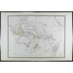 1835 - Carte de l'Océanie...