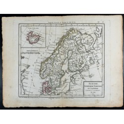 1810 - Carte de la Scandinavie