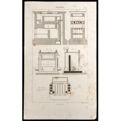 1852 - Plan de cheminée et...