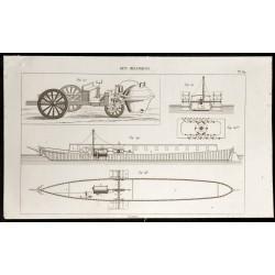 1852 - Voiture et bateau à...