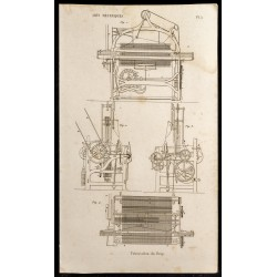 1852 - Fabrication du drap...
