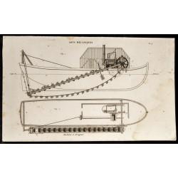 1852 - Machine à draguer -...