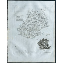 1830 - Carte ancienne du Lot