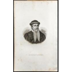1834 - Portrait de Gutenberg