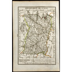 1823 - Carte de L'Oise -...