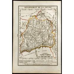 1823 - Carte de la Nièvre -...