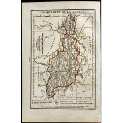 1823 - Carte de la Moselle...