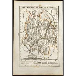 1823 - Carte du Lot et...