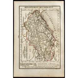 1823 - Carte de l'Hérault -...