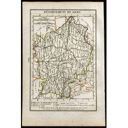 1823 - Carte du Gers -...