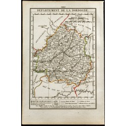 1823 - Carte de la Dordogne...