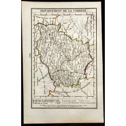 1823 - Carte de la Corrèze...