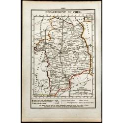1823 - Carte du Cher -...