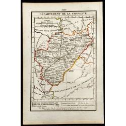 1823 - Carte de la Charente...