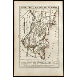 1823 - Carte des Bouches du...