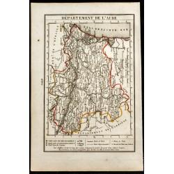 1823 - Carte de l'Aude -...