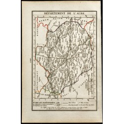 1823 - Carte de l'Aube -...